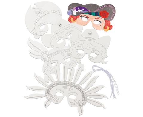 Masken aus Pappe 6 Stueck-1