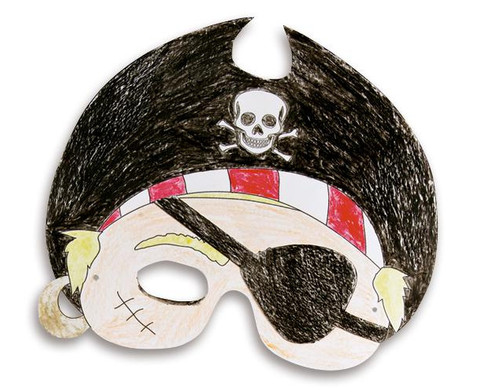 Masken aus Pappe 6 Stueck-6