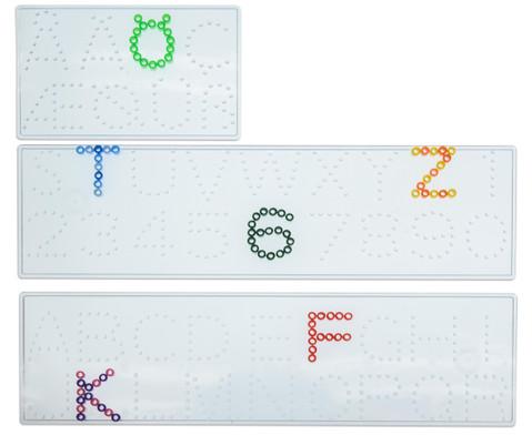 Buegelperlen Steckplatten Zahlen und  Buchstaben-1