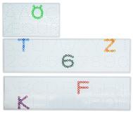 Bügelperlen Steckplatten, Zahlen und  Buchstaben