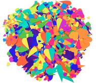 Herzen aus Papier, 2000 Teile