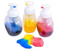 Schaumfarbflaschen, 3 Stück