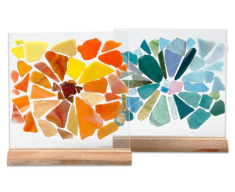 Glasplatten und Halter 10 Stueck