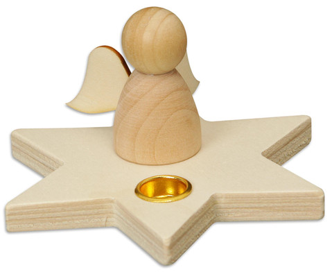 Kerzenhalter Stern mit Engelchen 5 Stueck-3