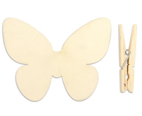 Holzklammern Schmetterling 5 Stueck-1