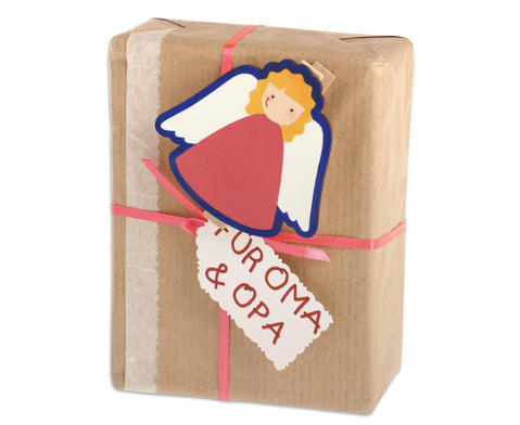 Holzklammern Weihnachten 6 Stueck-2