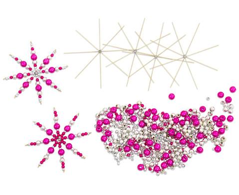 Draht-Weihnachtssterne-Set pink-silber-1