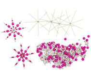 Draht-Weihnachtssterne-Set pink-silber