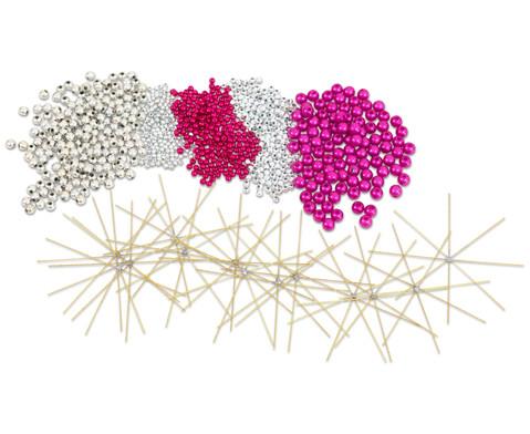 Draht-Weihnachtssterne-Set pink-silber-2