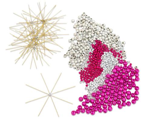 Draht-Weihnachtssterne-Set pink-silber-4
