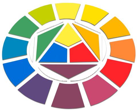 MDF-Farbkreis  40cm blanko