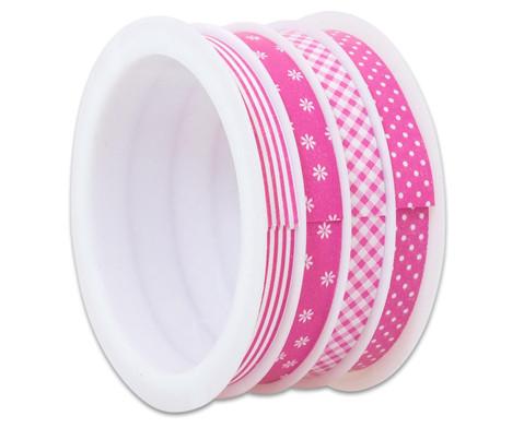 Geschenkband 4er Set rosa-4