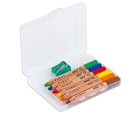 Buntstifte 6er-Set inkl Spitzer