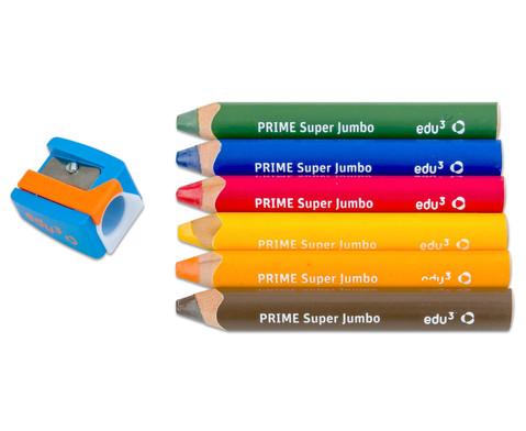 Super JUMBO-Farbstifte 6er Set inkl Spitzer-1