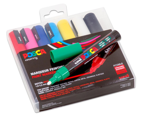 POSCA Grundfarben-Set mit mittelfeiner Rundspitze-3