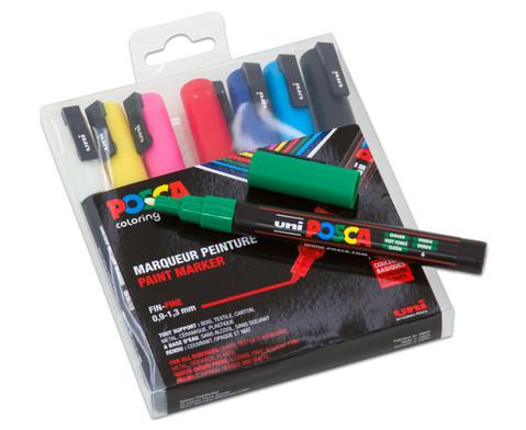 POSCA Grundfarben-Set mit feiner Rundspitze-2