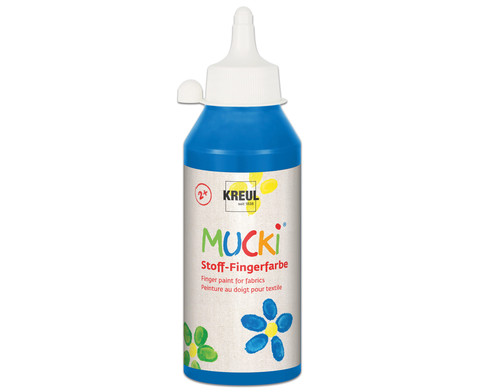 MUCKI Stoff- Fingerfarben 250ml-12