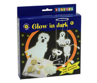 Midi-Bügelperlen Bastelset – Glow in the dark