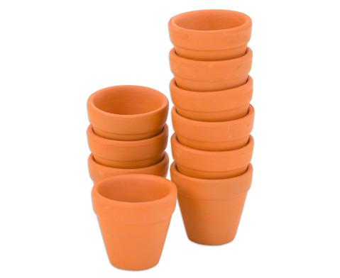 Terracotta-Toepfe 10 Stueck-19