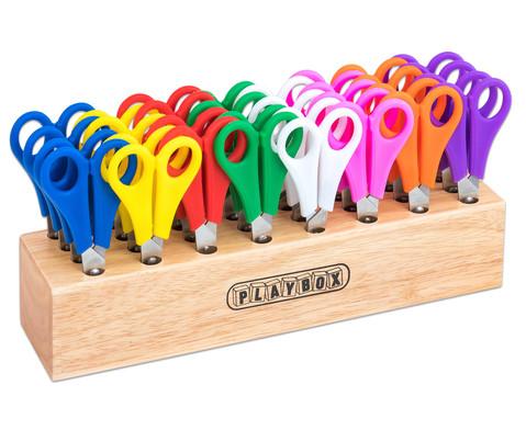 Scherenstaender aus Holz inkl 32 Scheren