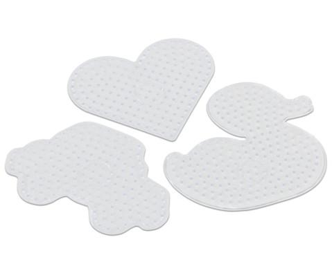 Maxi-Steckplatten 3er Set Ente Herz und Auto-1