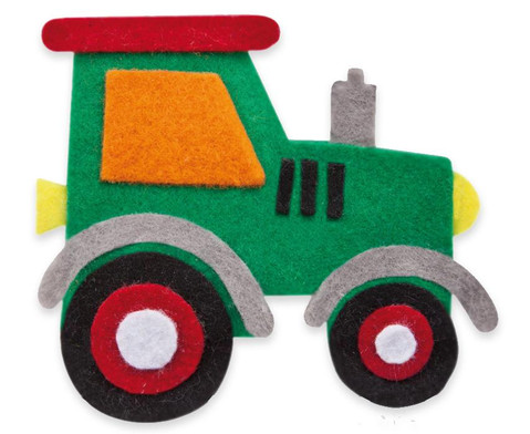 Filzbuttons-Set Fahrzeuge-4