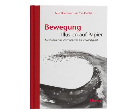 Buch Bewegung  Illusion auf Papier