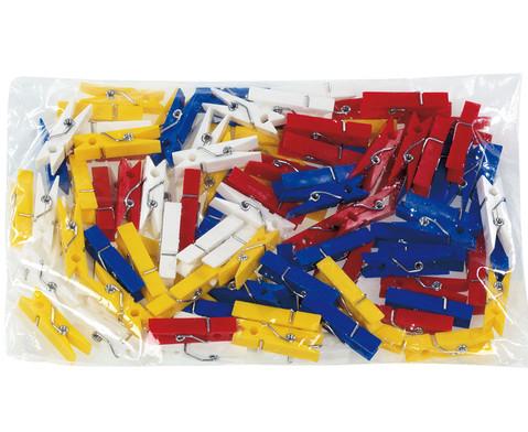 Beutel mit 100 Klammern zu Colorclips Material Kunststoff-1
