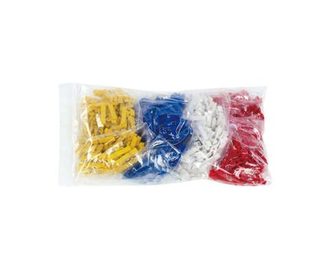 Beutel mit 400 Klammern zu Colorclips Material Kunststoff-2