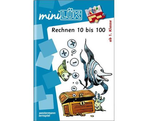 miniLUEK-Heft Rechnen Zahlenraum 10-100-1