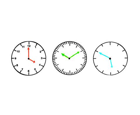 Uhrenstempelsatz 3-teilig-4