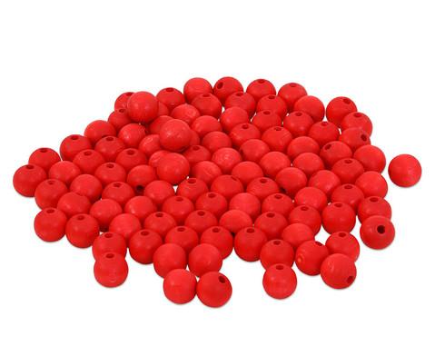 Holzperlen 100 Stueck  rot blau oder weiss-2