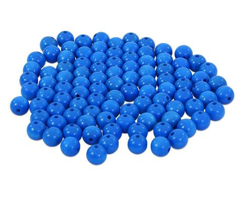 Holzperlen 100 Stueck  rot blau oder weiss-4