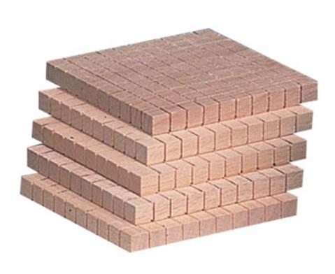 Zehnersystem -Teile aus Holz-5