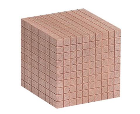 Zehnersystem -Teile aus Holz-4