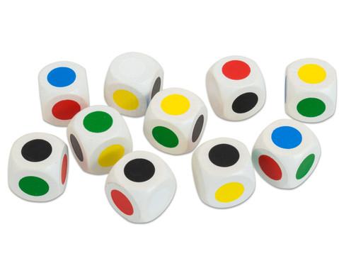 Satz mit 10 Farbwuerfeln 20 mm