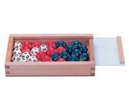 Zwölfflächige Schulwürfel weiß / rot / blau, 32 Stück