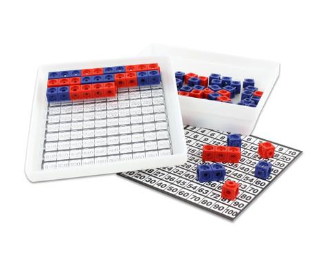 Steckwuerfel-Multibox mit 100 Stueck rot-blau-2