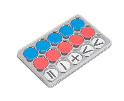 Sortierkasten mit 100 Wendeplaettchen magnetisch
