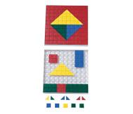 Steckplättchen, 200 Stück  in 5 Farben