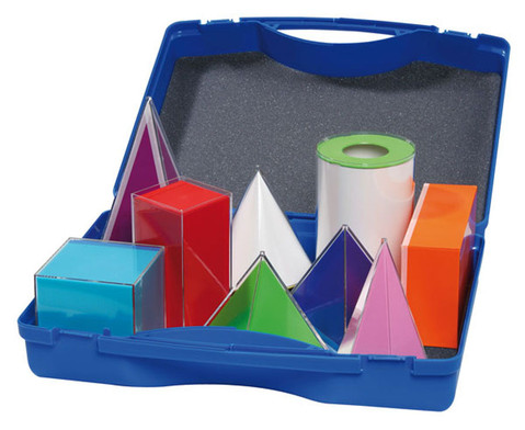 Betzold Geometriekoerper 9 Stueck im Kunststoffkoffer