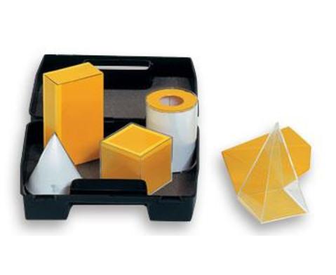 Geometrische Koerper aus Plexiglas