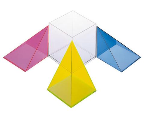 Modell Wuerfel zerlegbar in 3 raumgleiche Pyramiden-2