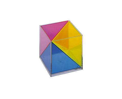 Modell Wuerfel zerlegbar in 3 raumgleiche Pyramiden-3