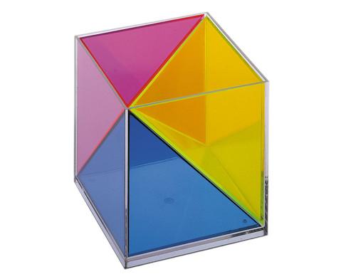 Modell Wuerfel zerlegbar in 3 raumgleiche Pyramiden-1