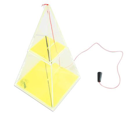 Vierseitige Pyramide 11 cm hoch-4