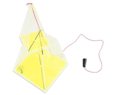 Vierseitige Pyramide 11 cm hoch-5