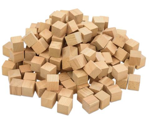 150 Holzwuerfel naturbelassen