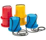 Lauf-Stelzen, 3er-Set, blau - rot - gelb