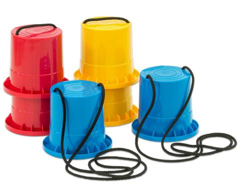 Laufstelzen 3er-Set blau - rot - gelb